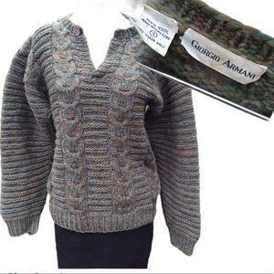 Vintage Giorgio Armani wool 80s knit sweater s